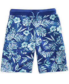Epic Threads Floral-Print Cotton Shorts, Little Boys, Created for Macy's