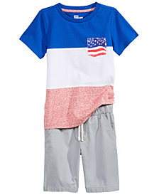 Epic Threads Pocket T-Shirt & Shorts Separates, Little Boys, Created for Macy's