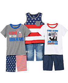 Epic Threads Red, White & Blue T-Shirts & Shorts Separates, Little Boys, Created for Macy's