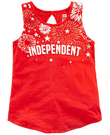Epic Threads Big Girls Independent Graphic-Print Tank Top, Created for Macy's