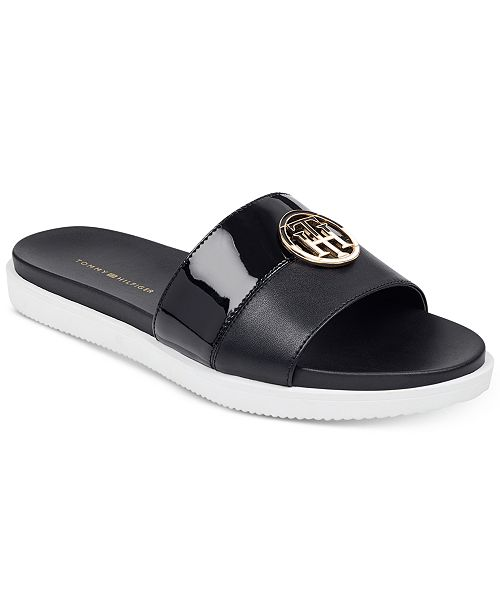 7c8a16cb Tommy Hilfiger Women's Souli Slip-On Flat Sandals & Reviews ...