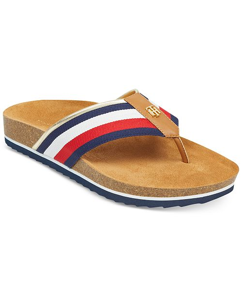 Tommy Hilfiger Giulio Footbed Thong Sandals HkpZGDtMf3