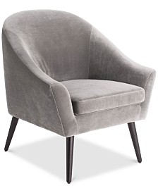 Elle Decor Laurel Accent Arm Chair, Quick Ship