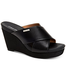 Calvin Klein Women's Jacolyn Wedge Sandals,Created For Macy's