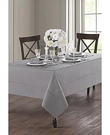 """Corra Platinum 70"""" x 126"""" Tablecloth"""