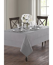"Waterford Corra Platinum 70"" x 104"" Tablecloth"