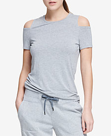 DKNY Sport Cold-Shoulder Top