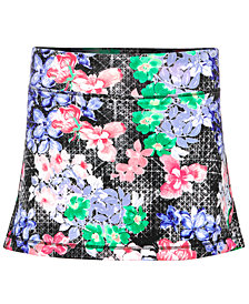 Ideology Floral-Print Skort, Little Girls, Created for Macy's