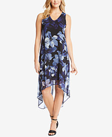 Karen Kane High-Low Printed Sleeveless Dress