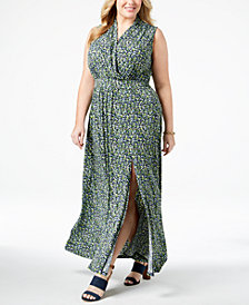 MICHAEL Michael Kors Plus Size Printed Maxi Dress