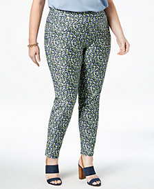 MICHAEL Michael Kors Plus Size Printed Knit Skinny Pants