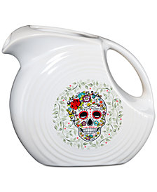 Fiesta Skull and Vine Sugar Large Pitcher