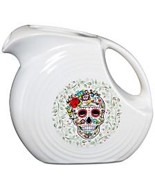 Fiesta Skull and Vine Sugar Large 67 oz. Pitcher