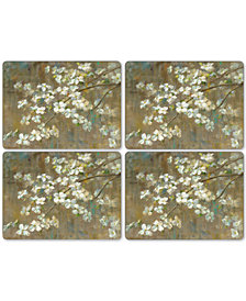 Pimpernel Dogwood in Spring Set of 4 Placemats