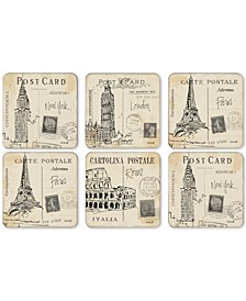 Postcard Sketches Set of 6 Coasters