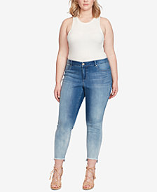 Jessica Simpson Trendy Plus Size Kiss Me Ankle Jeans
