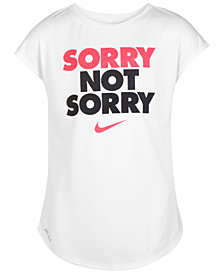 Nike Sorry-Print T-Shirt, Little Girls