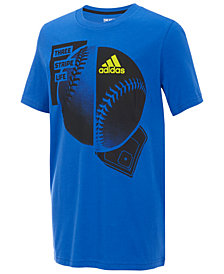 adidas Baseball-Print Cotton T-Shirt, Little Boys