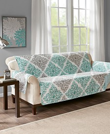 Madison Park Claire Reversible Printed Sofa Protector