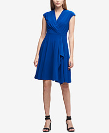 DKNY Matte Jersey Surplice Dress, Created for Macy's