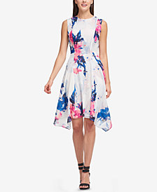 DKNY Printed Handkerchief-Hem Dress, Created for Macy's