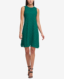 DKNY Textured Chiffon Trapeze Dress, Created for Macy's