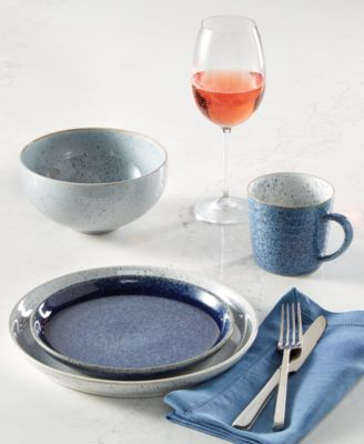 Studio Blue 4-Pc. Medium Coupe Plate Set