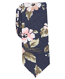 Bar III Men's Socotra Floral Skinny Tie, Created for Macy's