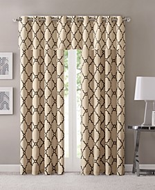 Saratoga Fretwork-Print Grommet Curtain Panel & Valance Collection