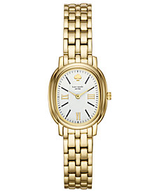 kate spade new york Women's Staten Gold-Tone Stainless Steel Bracelet Watch 25mm