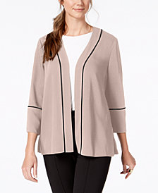 Alfani Pleated-Back Belted Blazer, Created for Macy's