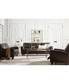 Kaleb Tufted Leather Sofa Collection, Created for Macy's