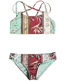 Roxy 2-Pc. Printed Bikini Swimsuit, Big Girls