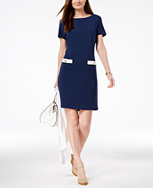 Charter Club Faux-Pocket Sheath Dress, Created for Macy's