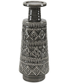 Madison Park Davos Ceramic Candle Holder