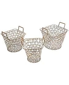 Madison Park Havana Wire Baskets, Set of 3