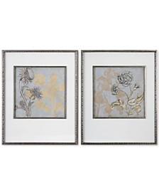 Shadow Florals 2-Pc. Print Set