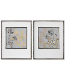 Uttermost Shadow Florals 2-Pc. Print Set