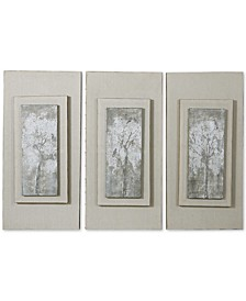 Triptych Trees 3-Pc. Hand-Painted Wall Art Set