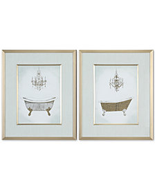 Uttermost Gilded Bath 2-Pc. Printed Wall Art Set
