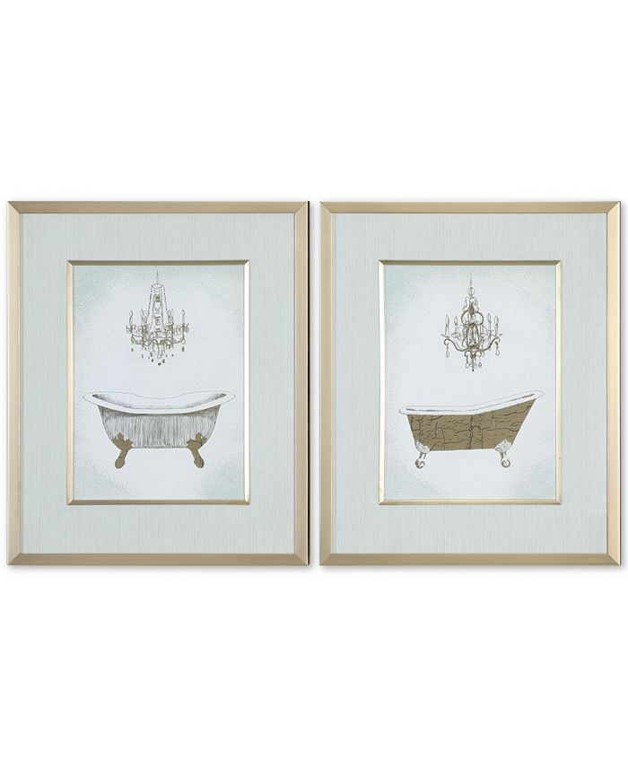 Uttermost - Gilded Bath 2-Pc. Printed Wall Art Set