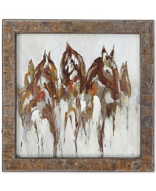 Uttermost Equestrian in Browns and Golds Abstract Wall Art
