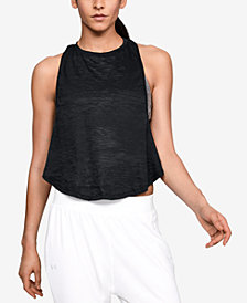 Under Armour Burnout Twist-Back Cropped Tank Top