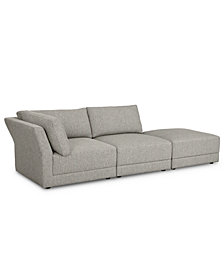 Mylie 3-Pc. Fabric Modular Sofa with Ottoman, Created for Macy's