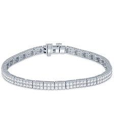 Diamond Modular Tennis Bracelet (3 ct. t.w.) in 14k White Gold