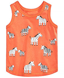 First Impressions Baby Boys Zebra-Print Cotton Tank Top, Created for Macy's