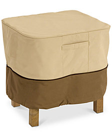 Small Ottoman Side Table Cover, Quick Ship