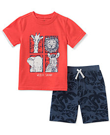Kids Headquarters Baby Boys 2-Pc. Safari T-Shirt & Shorts Set