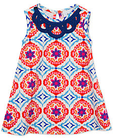 Rare Editions Baby Girls Geo-Print A-Line Dress