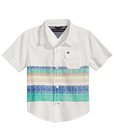 Tommy Hilfiger Baby Boys Zachary Striped Cotton Shirt